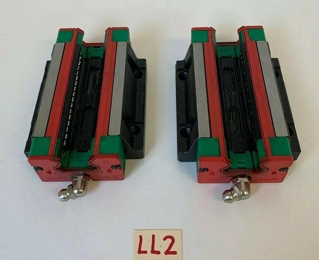 Used Hiwin HG20 Ball Bearing Linear Block Slide HGW20HCH (Lot Of 2) *Warranty*