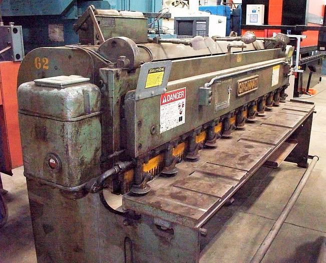 Used Cincinnati 10' x 10 Gauge Mechanical Shear 1010