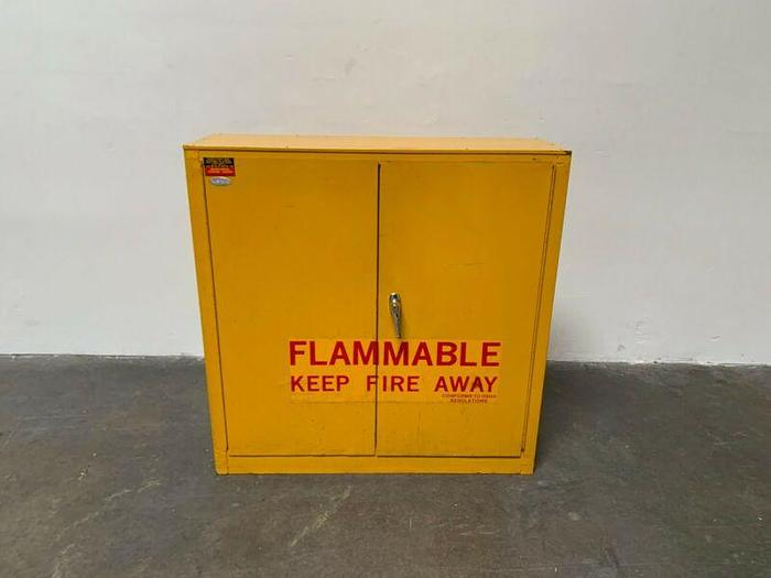 """Used Protectoseal 39"""" x 12"""" x 39"""" Flammable Liquid Storage Cabinet"""