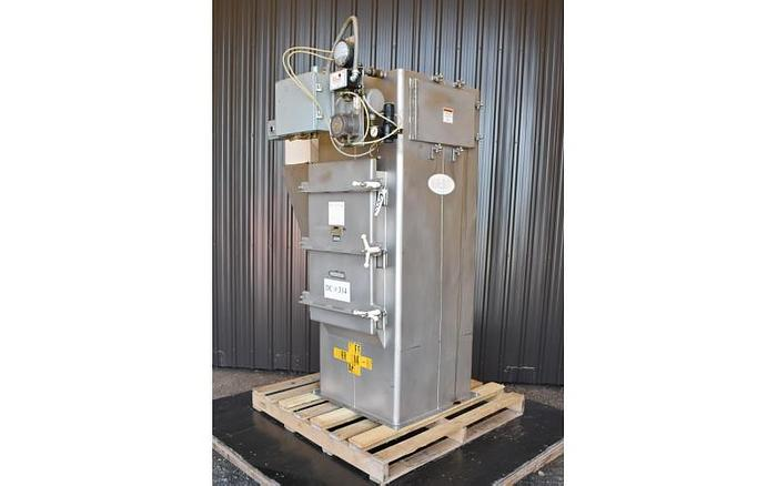 USED MAC STAINLESS STEEL DUST COLLECTOR, BIN VENT PULSE JET, 67 SQ.FT. APPROX.