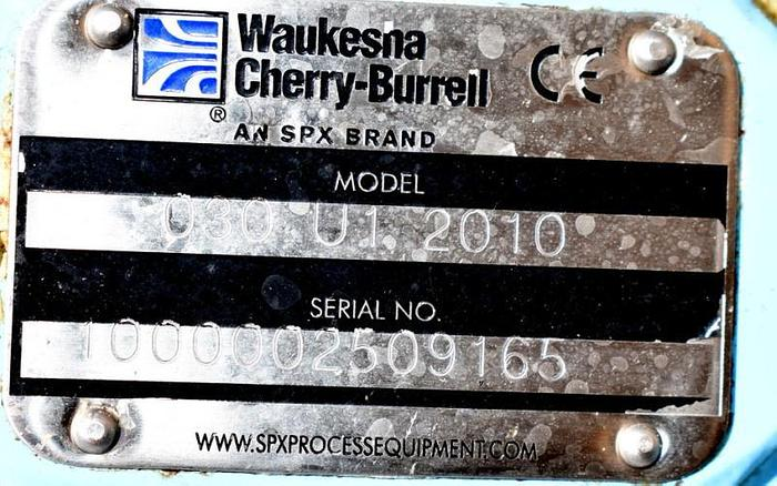 USED WAUKESHA ROTARY LOBE PUMP, MODEL 030-U1, STAINLESS STEEL, SANITARY, JACKETED