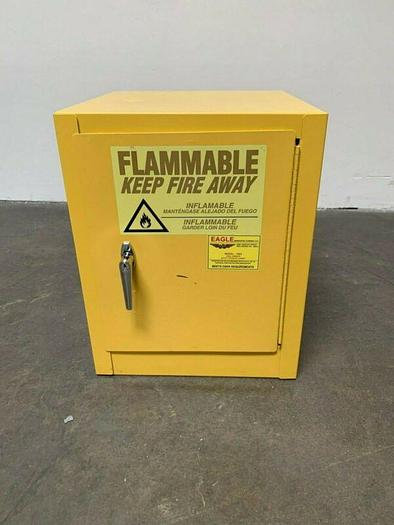 """Used Eagle Model 1903, 18"""" x 18"""" x 22"""" Flammable Storage Cabinet, 4 Gallon"""