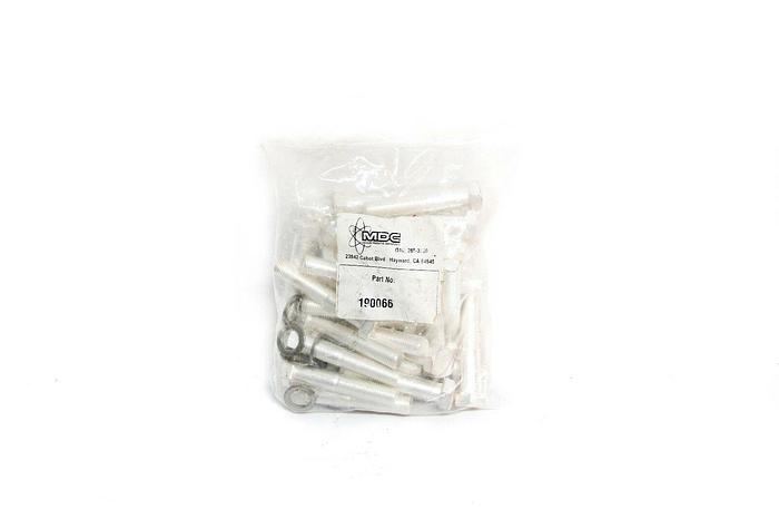 """MDC 190066 Hex Head Bolt, 2"""" Lg, Tapped, Silver Plated Lot of 36 (3330)"""