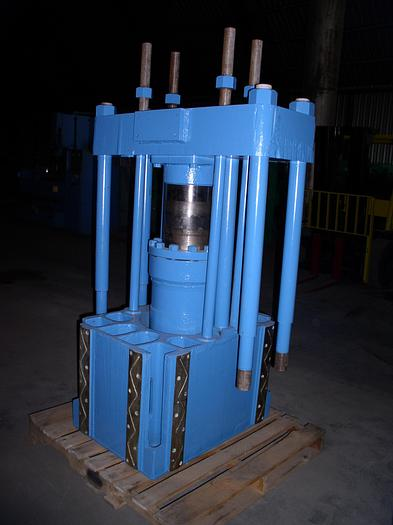 550 Ton Lake Erie Triple Action Hydraulic Press; Straight Side Down-Acting Type; Tie Rod Construction; Rebuilt 1991