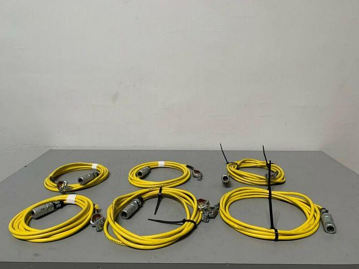 Used Lot of 6 North Flex 15FT Copper Welding Cable w/ Mueller 21A 50-AMP Spring Clip