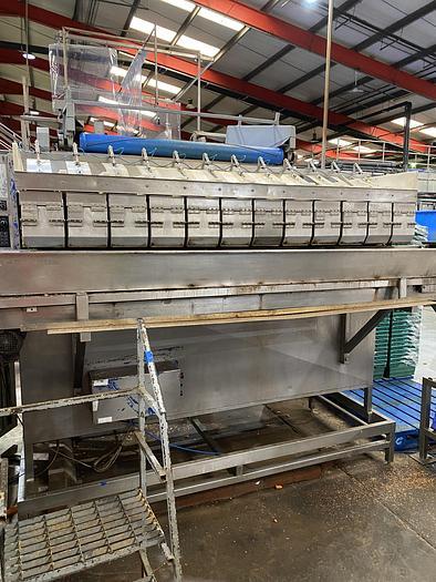 Used Newtec 2012 XBG double drop conveyor. Serial no-5887 YOM-2001