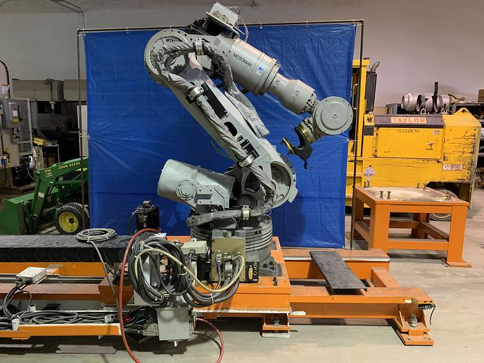 Used MOTOMAN ES200N 6 AXIS CNC ROBOT WITH NX100 CONTROLLER ON 16' 7TH AXIS TRACK