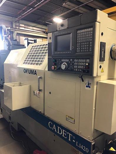 Used 1995 OKUMA CADET L1420 LNC10 CNC Lathe - Big Bore CADET L1420 LNC10