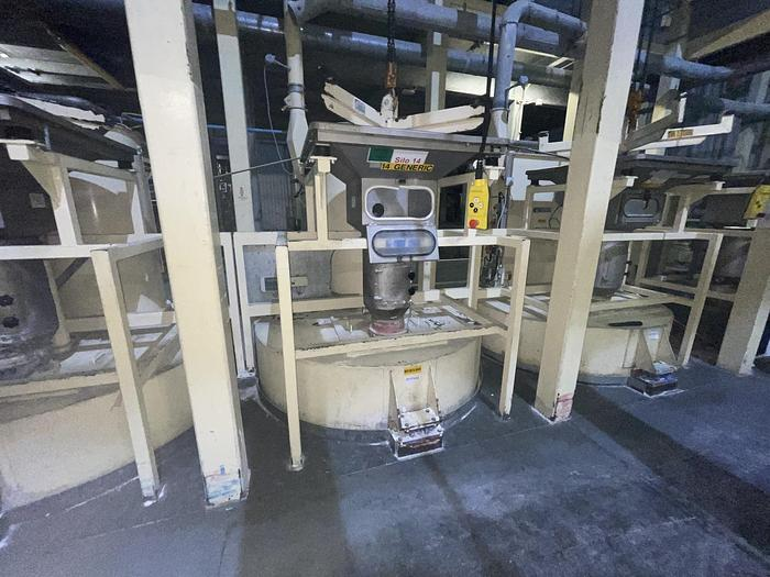 Used BUHLER 3M2 3m2 Silo with Filter and Bag Discharger
