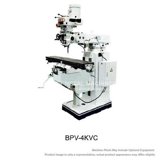 BIRMINGHAM Vertical Knee Mill NT40 Taper, 5HP, 220V/440V with Special Tool Package BPV-4KV-C
