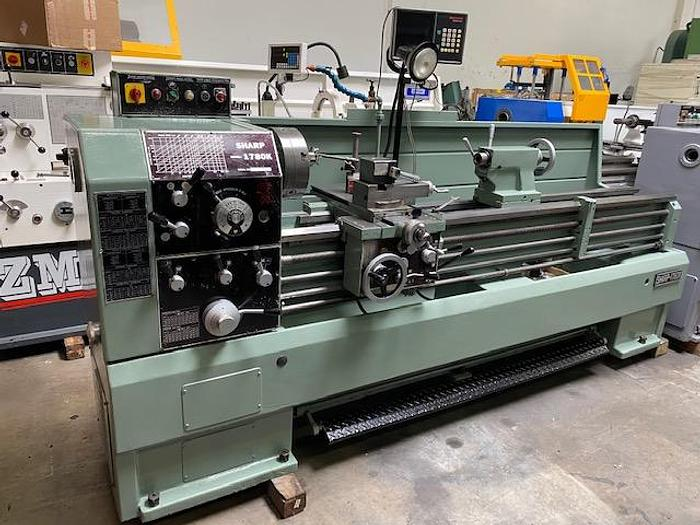 Used SHARP MODEL 1780K ENGINE LATHE with  Digital Readout  #5655