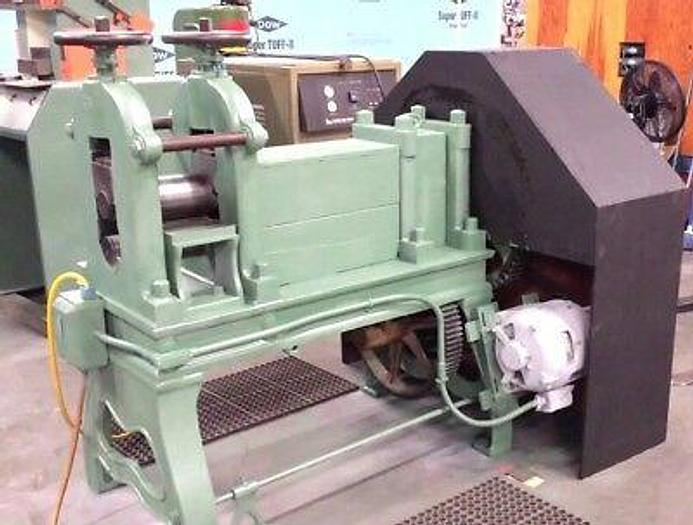 Used Rolling Mill 4 x 8 inch 2 HI 2HP Roll Flat Stock for coins coining silver gold