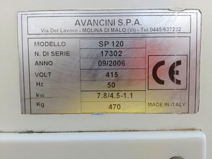 Used AVANCINI SP-120 Bakery/confectionery