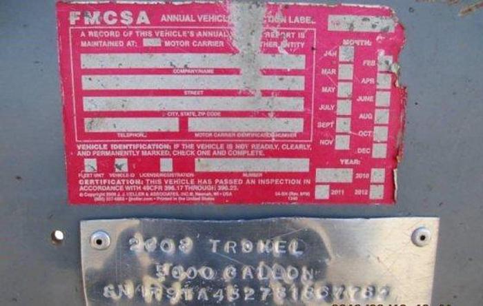 2008 TROXELL WATER TANKER