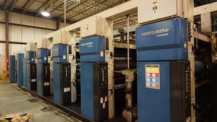 "Used 1998 Heidelberg M1000BE (5) Unit Web Press system 22.75"" (578mm) Cutoff"