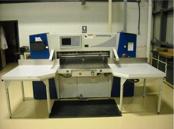"""Used 45"""" WOHLENBERG GUILLOTINE PAPER CUTTER LIKE NEW CONDITION MFG 2001"""