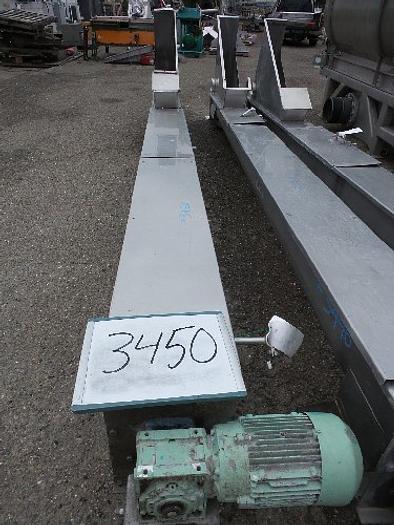 Stainless Steel Screw Conveyor 8'' wide x 15' long