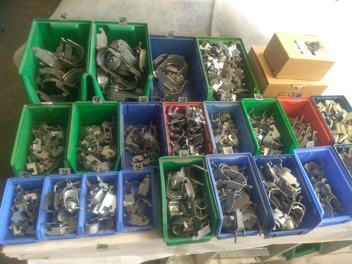660 Stück Bügelschellen,  , von D12 bis D78, auch F90, neu -70%