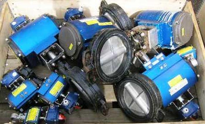 Used WM actuators, model WM 8 SR, 55 SR F12 with butterfly valve, type VF-730 and mechanical switches, type ITS-100