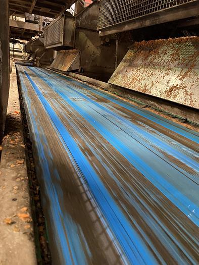 Used Steel Conveyor belt 8m L 1m W
