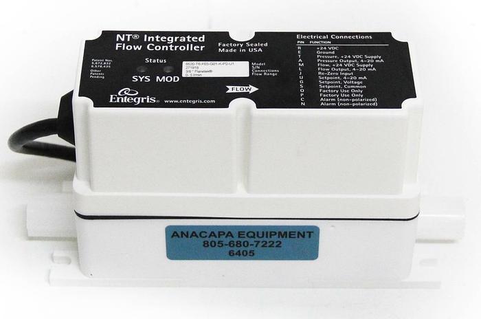 Used Entegris 6520-T6-F03-G01-K-P2-U1 NT Integrated Flow Controller 0-5 L/min (6405)