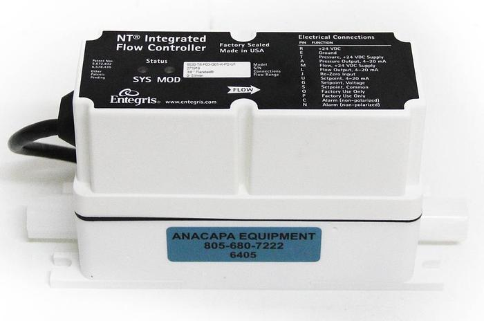 Used Entegris 6520-T6-F03-G01-K-P2-U1 NT Integrated Flow Controller 6520 (6405) W