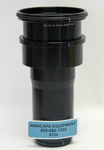 Used ISCO Anamorphic Lens, 2.5/43.5 mm, 365-435 nm, IS.43-5.15.04.S237nb (8724)W