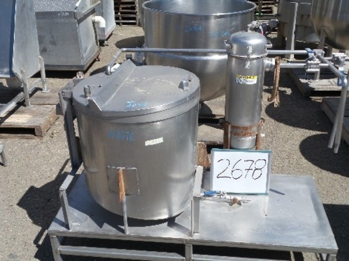 60 Gallon Vertical Stainless Steel Tank #2678