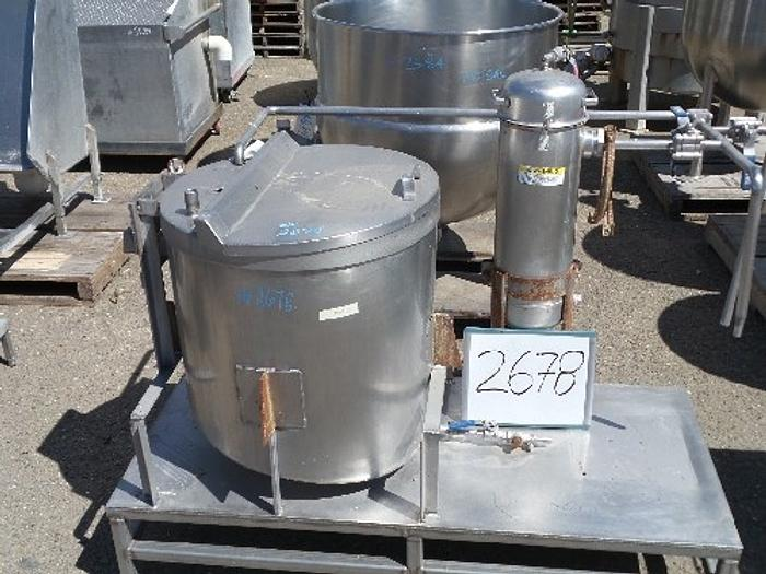 60 Gallon Vertical Stainless Steel Tank
