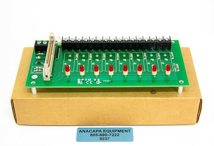 Opto 22 I/O Board, PB8H G1 8-channel Rack with Header Connector New (9237)K