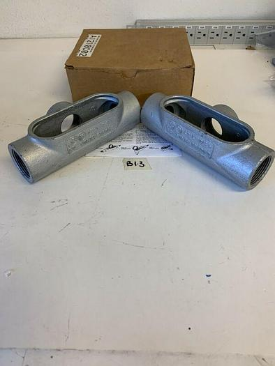 Lot of 2 NEW Cooper Crouse Hinds T-47  1-1/4'' Fast Shipping!