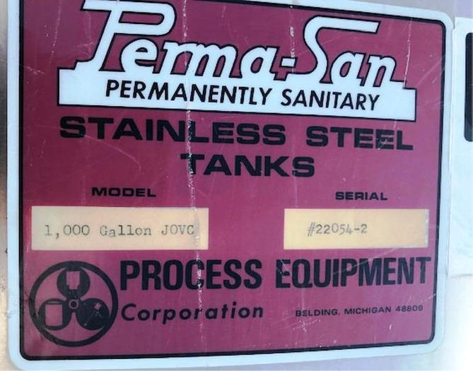 1974 Will-Flow Tank Corp. Steel Mixing Tank