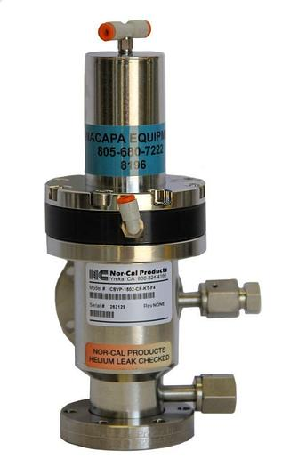 Used Nor-Cal Products CSVP-1502-CF-KT-F4 Pneumatic Right Angle Valve (8196)W