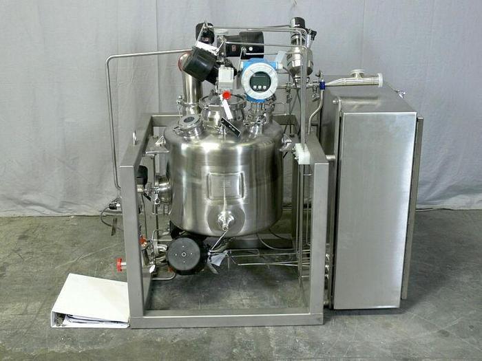 Used DCI 50 Liter 316L Stainless Filler Vessel w/ Valves, Sensors, Manuals & More