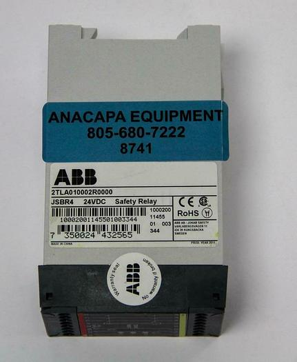 Used ABB 2TLA010002R0000 JSBR4 24VDC Safety Relay (8741)W