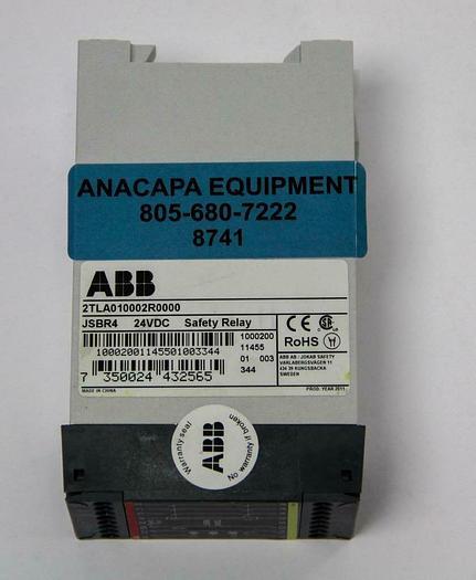 Used ABB 2TLA010002R0000 JSBR4 24VDC Safety Relay (8741)W 7350024432565