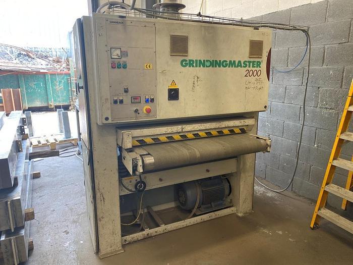 Used 2001 GrindingMaster 2000 GR-2100-1100 Belt Linishing Machine