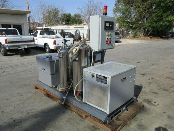 Used EBBCO EDM PACKAGE FILTRATION UNIT W/ OZONE GENERATION MODULE AND PACKAGE CHILLER