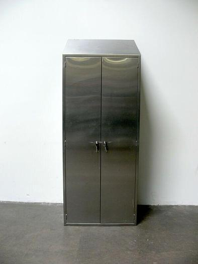 """Used Heavy Duty Stainless Steel Lab Storage Cabinet  14"""" x 35"""" x 92"""""""