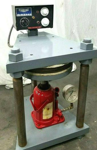 """Used Contenti 12"""" Rubber Mold Vulcanizer Make Spin Cast Molds Fishing Jewelry HO"""
