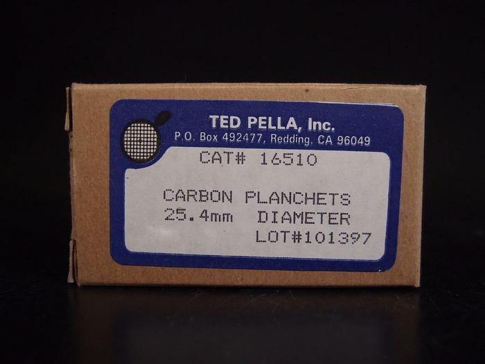 Ted Pella Inc. Carbon Planchets 25.4mm Lot of 4 (3650)