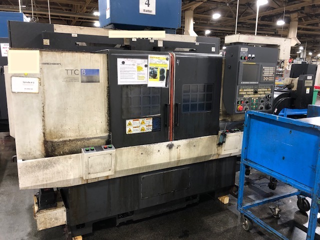HWACHEON TTC8 4 AXIS CNC TWIN SPINDLE LATHE