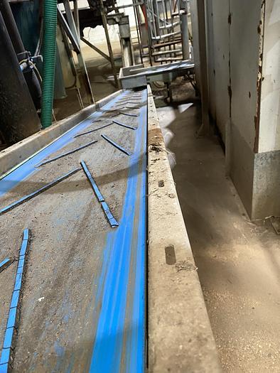 Used Steel Conveyor belt 10.5m L 0.55m W