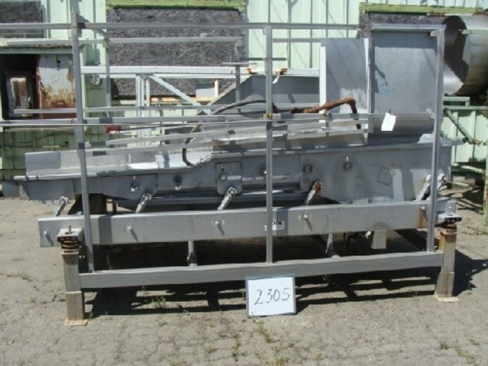 Commercial Mfg. 4' Wide x 11' Long Dewatering Shaker #2305