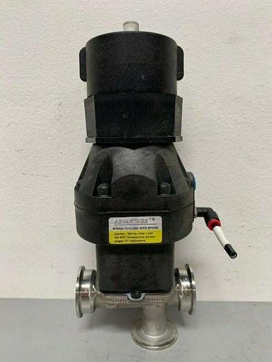 """Used ITT 3-Way Diaphragm Stainless Steel Valve w/ 2"""" Sanitary Fit & Position Monitor"""