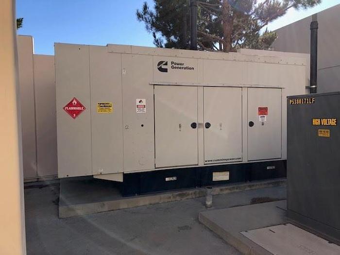 Used 275kW Cummins Diesel Generator set , Built 2010 Tier 3