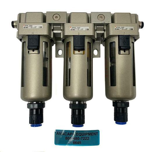 Used SMC AF30-F02D, AFM30-F02D, AFD30-F02D Pneumatic Filter Assembly Module (8645)W