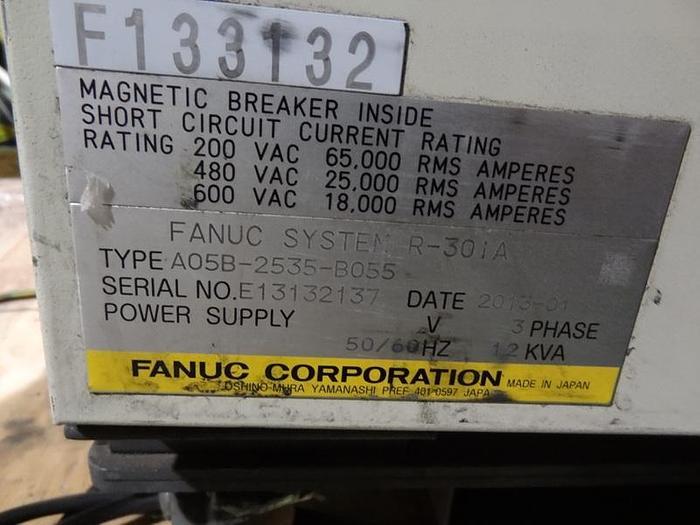 FANUC R2000iB/210F 6 AXIS CNC ROBOT W/R30iA CONTROLS/ SPOT WELDING ARO SERVO GUN
