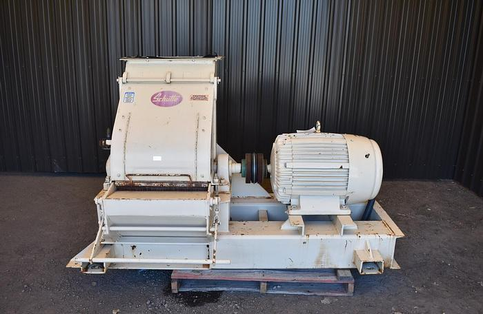 Used USED SCHUTTE HAMMER MILL, FIXED HAMMERS, CARBON STEEL, 100 HP