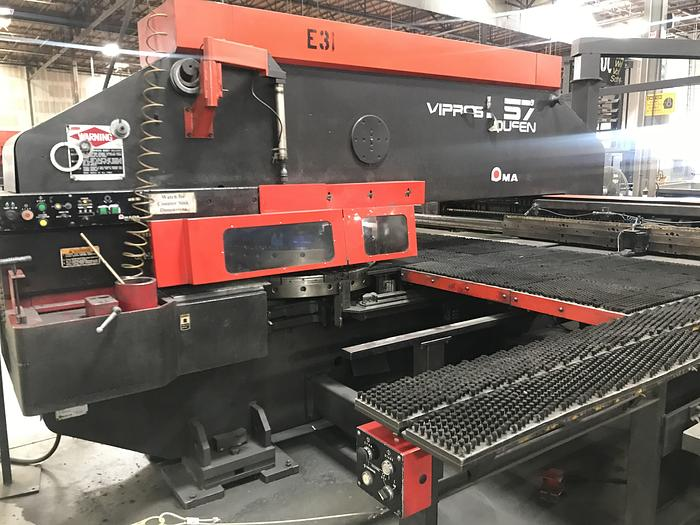 Used 2000 33 Ton Amada Vipros 357 Queen CNC Turret Punch